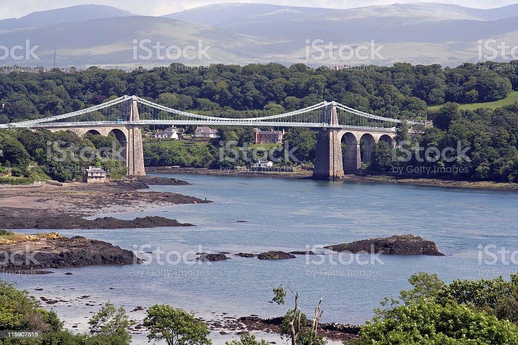 Menai Bridge at Low Water royalty-free stock photo