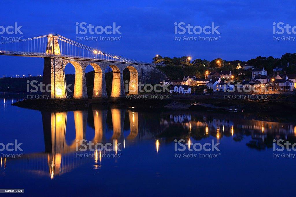 Menai Bridge stock photo