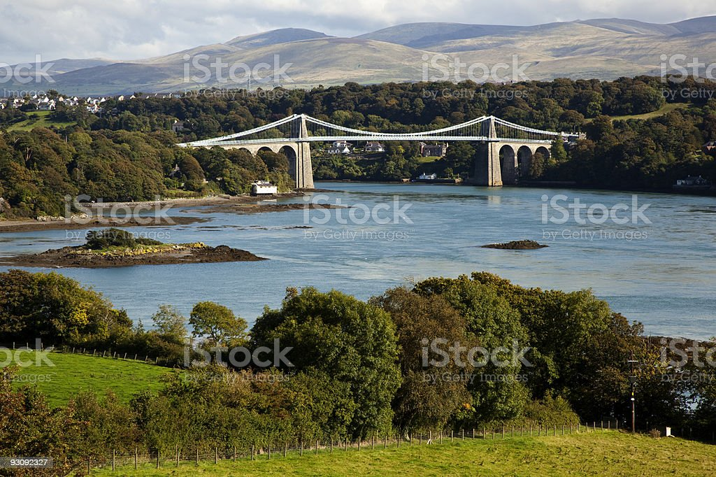 Menai Straights stock photo
