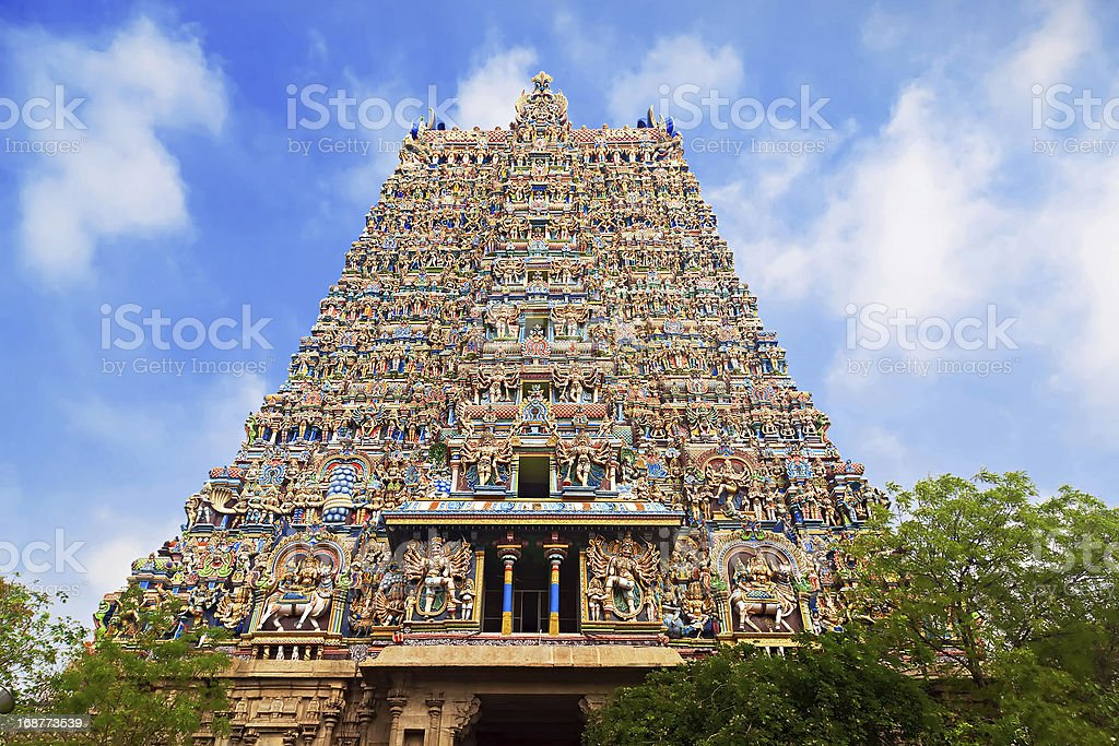 Menakshi Temple, India stock photo