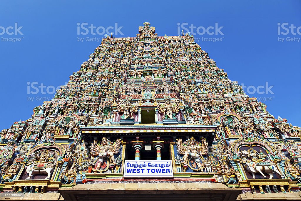 Menakshi Temple, India royalty-free stock photo