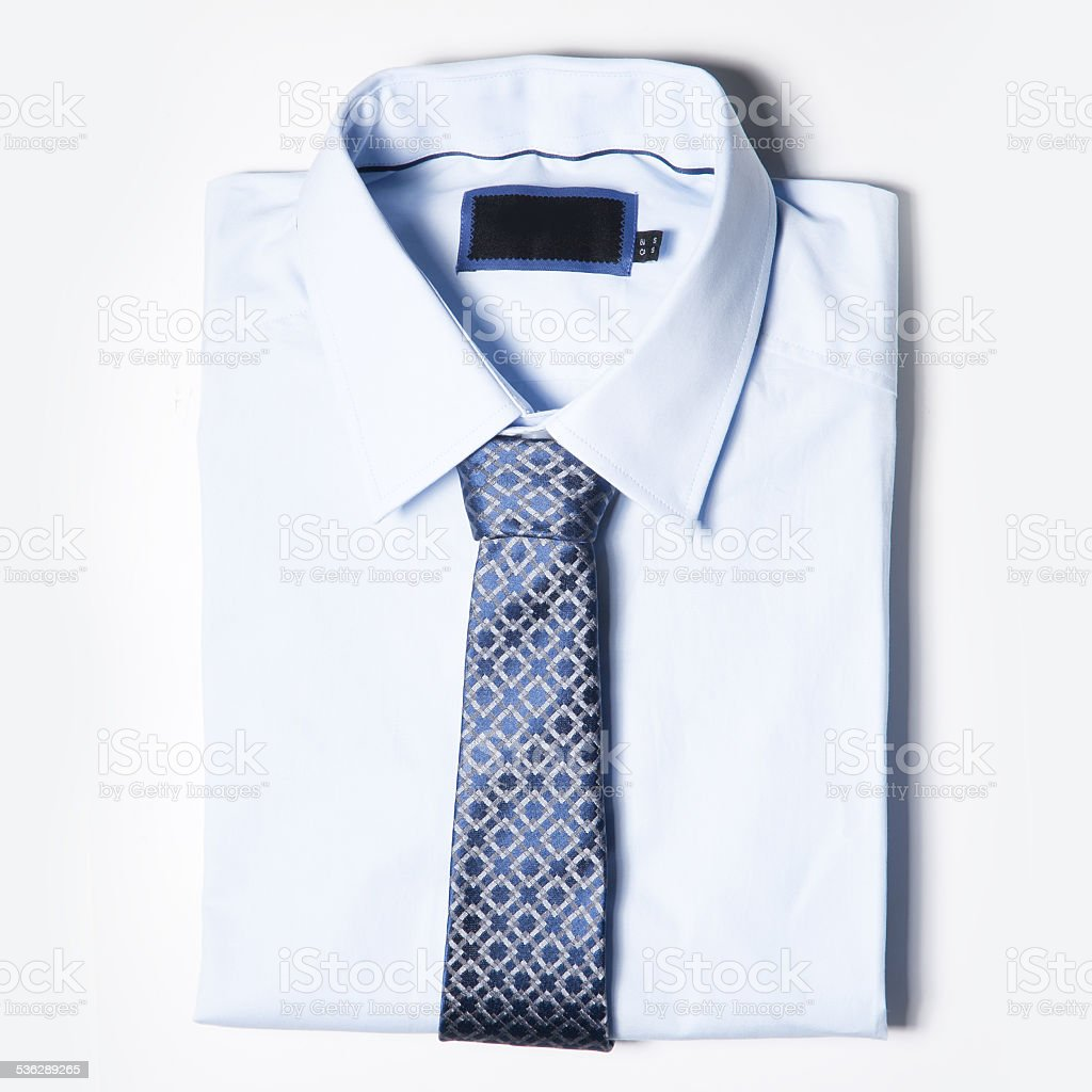 Men's clothing is on white background stock photo