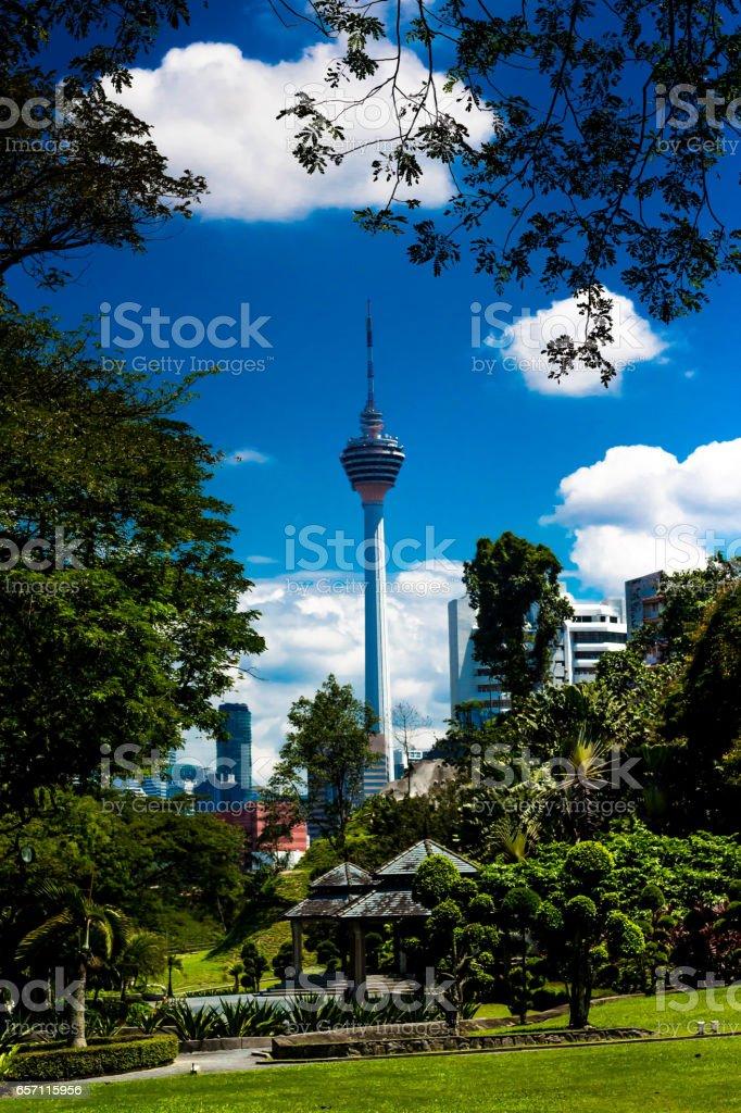 menara KL tower stock photo