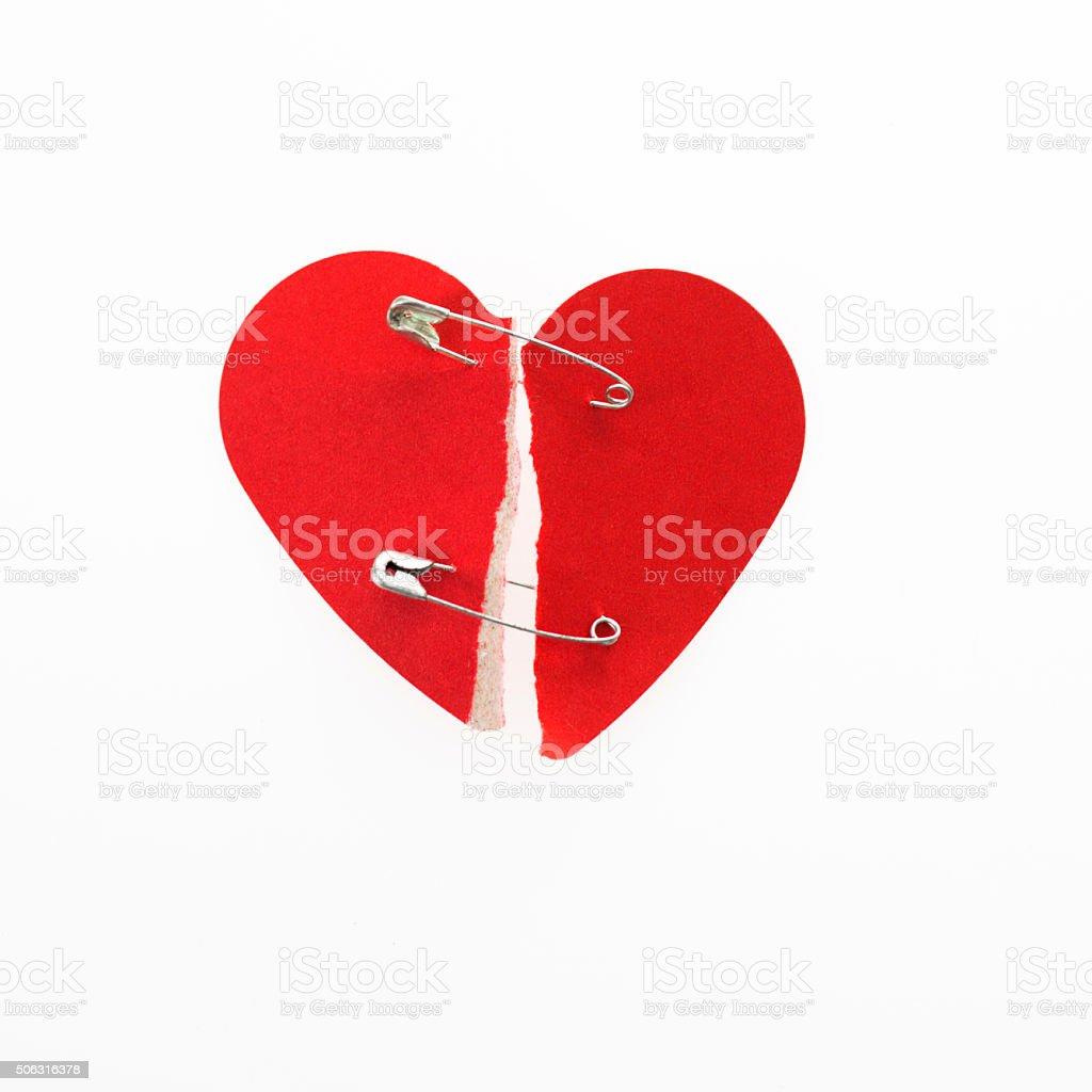 Mend the broken heart stock photo