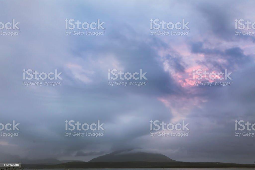 Mendeleev volcano stock photo
