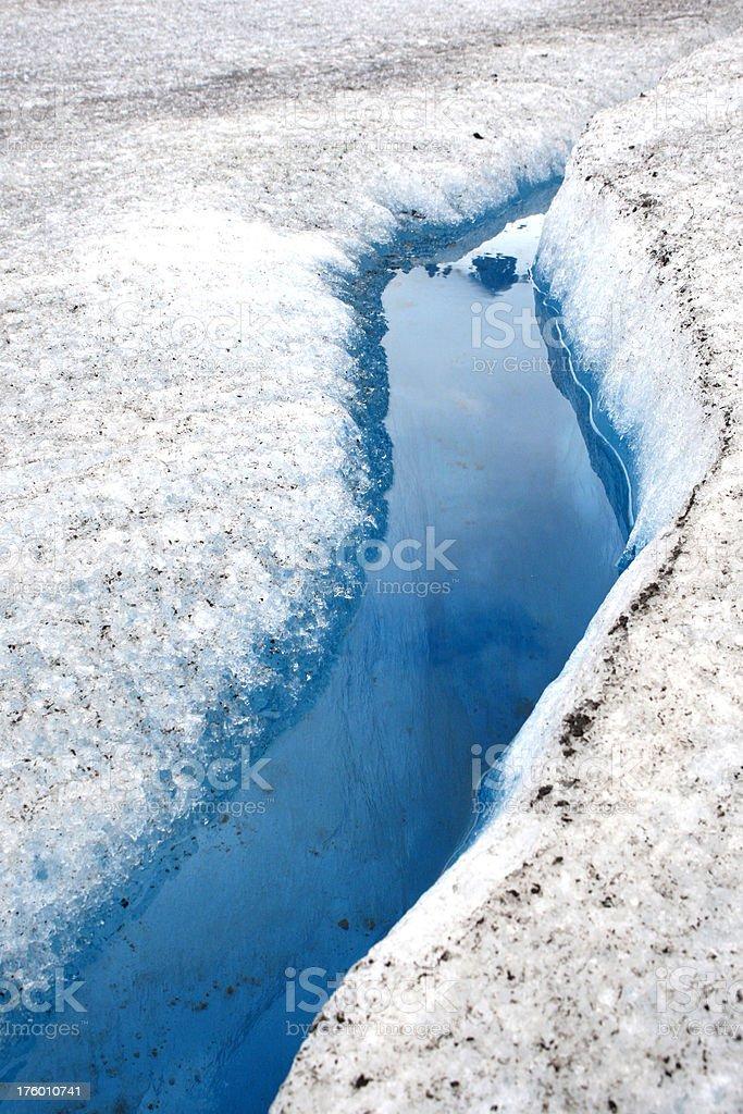 Ghiacciaio Mendenhall blu acqua foto stock royalty-free