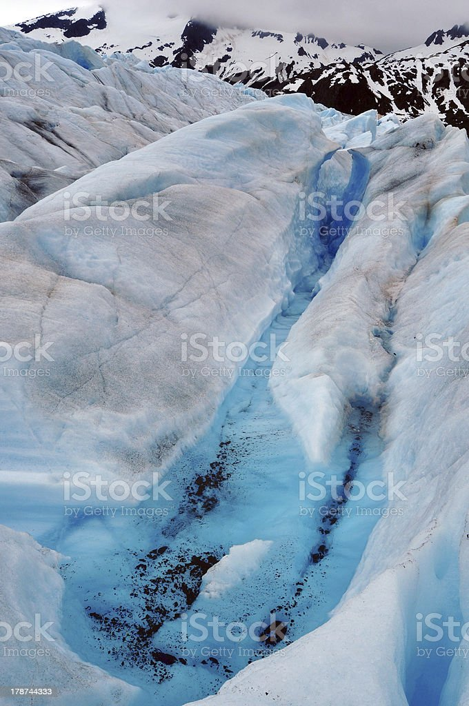Mendenhall Glacier Crevasse royalty-free stock photo