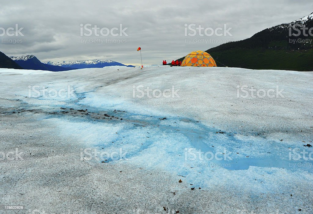 Mendenhall Glacier Exploration Camp royalty-free stock photo