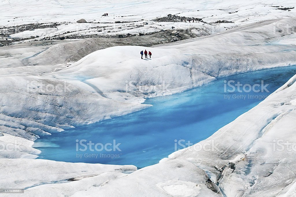 Mendenhall Glacier in Juneau, Alaska royalty-free stock photo