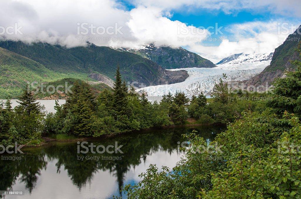 Mendenhall Glacier, Juneau, Alaska stock photo