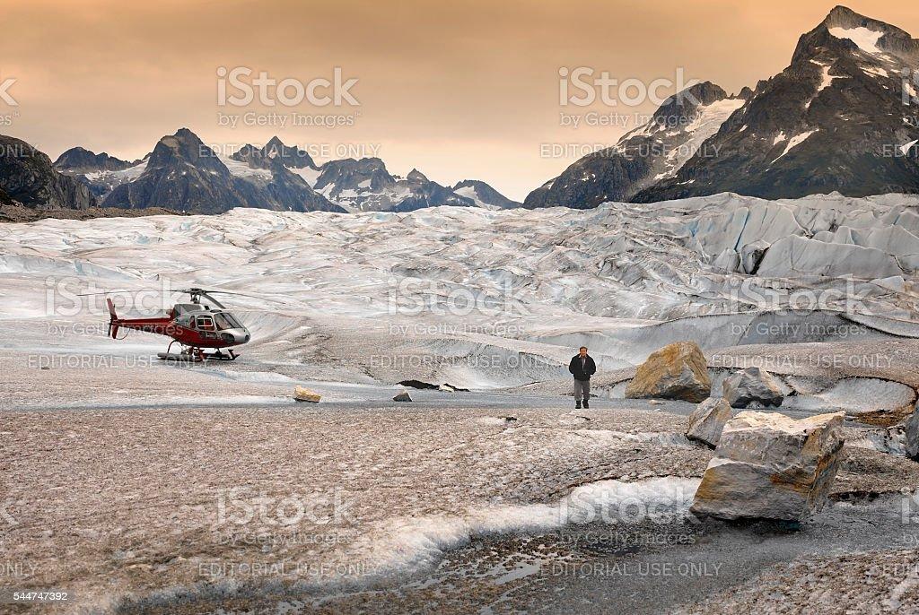 Mendenhall Glacier - Juneau Icefields - Alaska stock photo