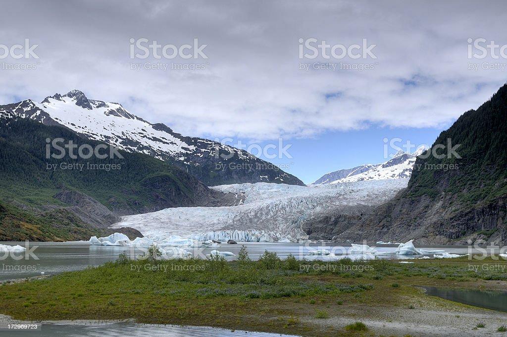 Mendenhall glacier near Juneau, Alaska royalty-free stock photo