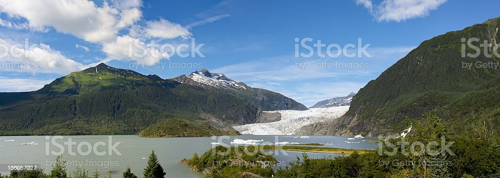 Mendenhall Glacier Panorama royalty-free stock photo
