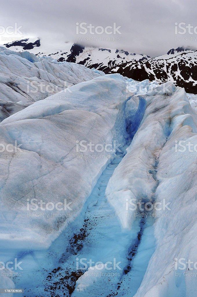 Mendenhall Glacier Surface Crevasse royalty-free stock photo