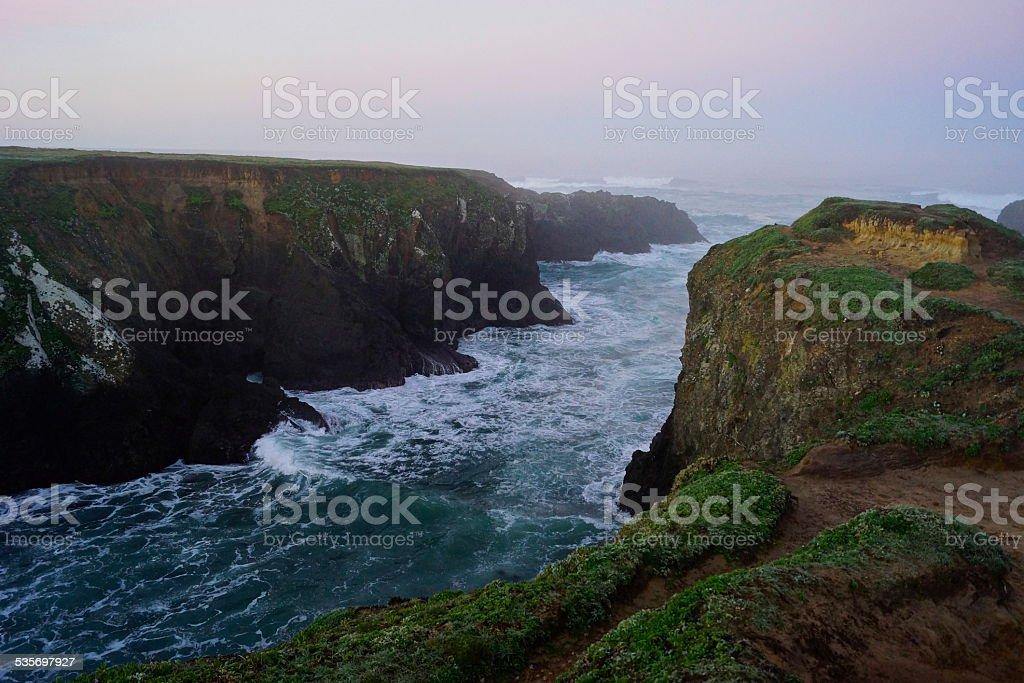 Mendocino Coast Famous Path stock photo