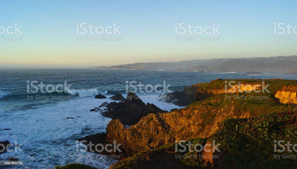 Mendocino Coast Sunset stock photo