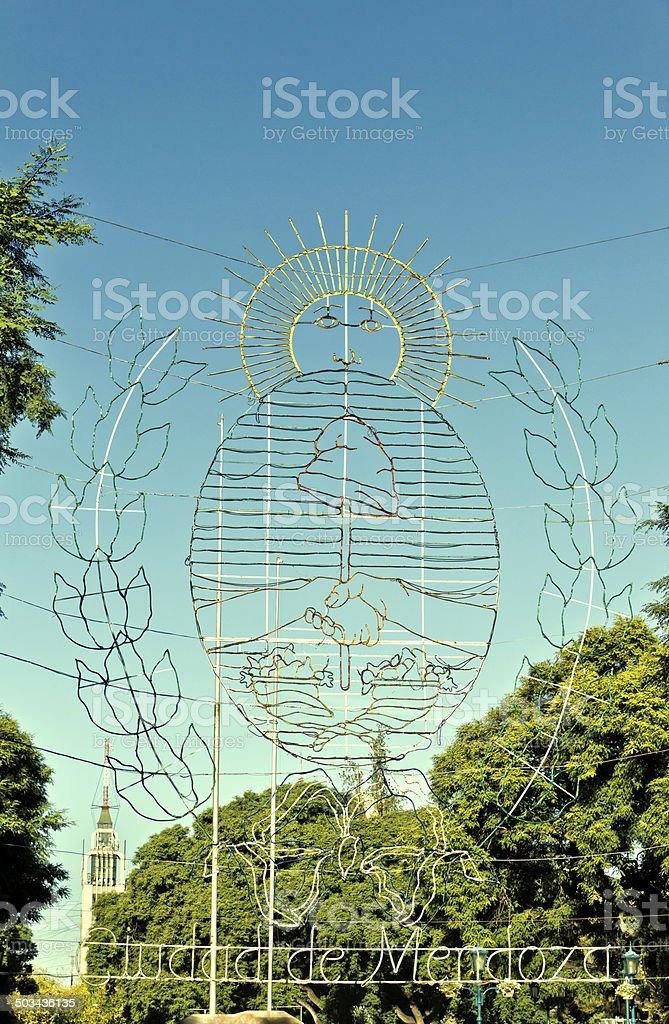 Mendoza city stock photo