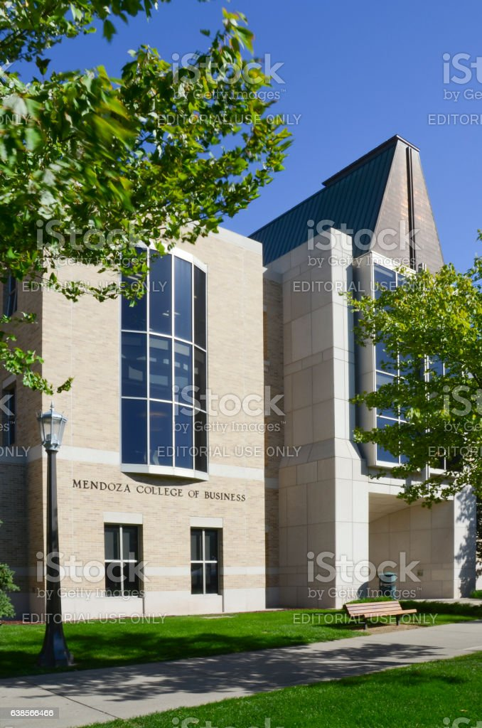 Mendoza College of Business at University of Notre Dame stock photo
