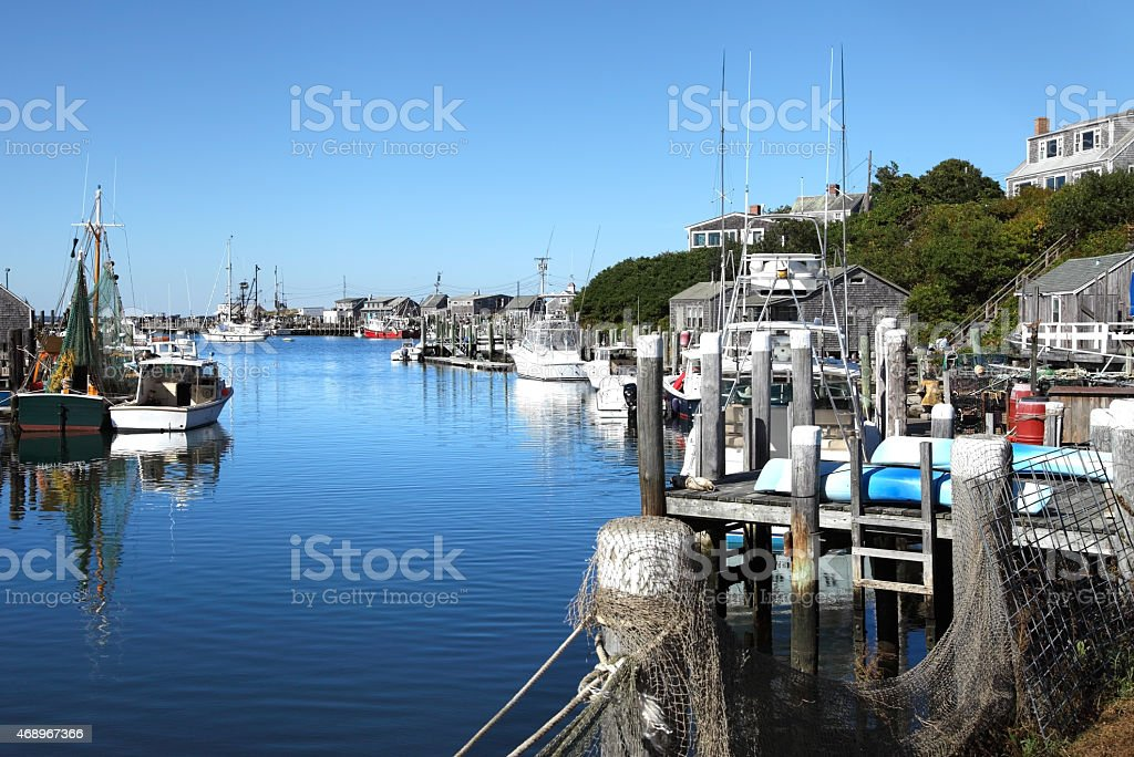 Menemsha Marthas Vineyard stock photo