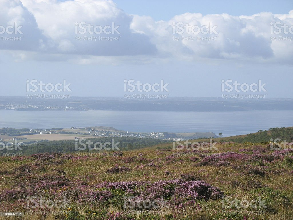 Menez-Hom and moor in Brittany stock photo