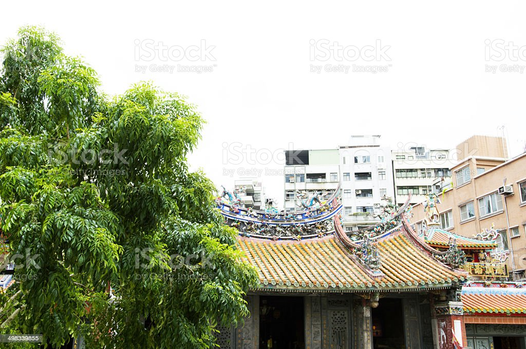 Mengjia Longshan Temple in Taipei, Taiwan stock photo