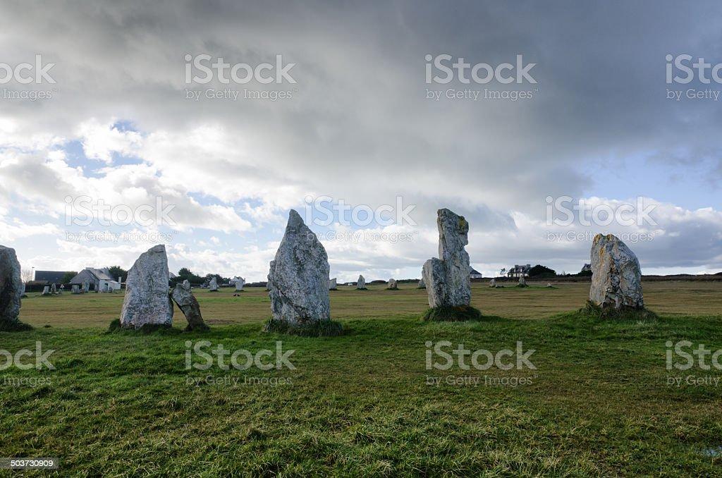 Menhir in France stock photo