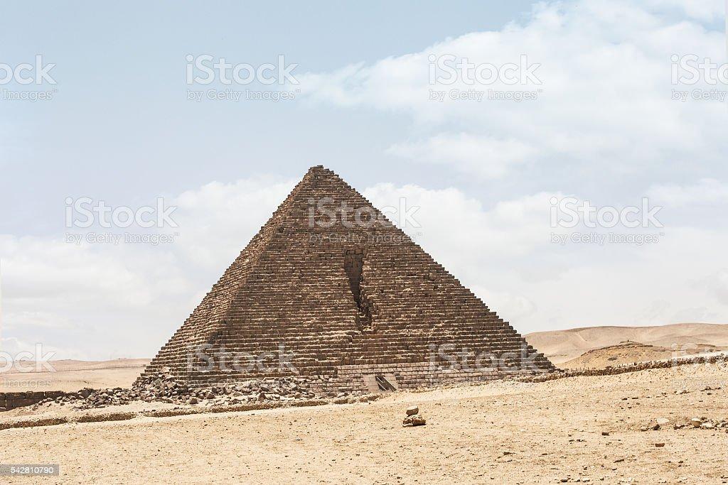 Menkaure pyramid desert stock photo