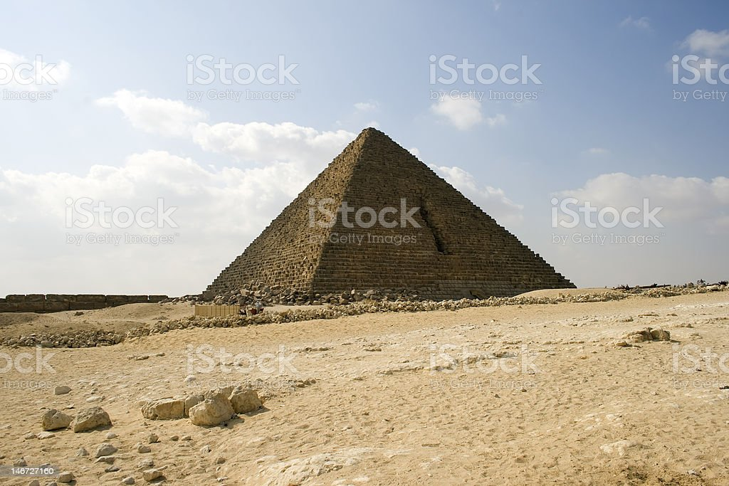Menkaure pyramid of Giza, Egypt royalty-free stock photo