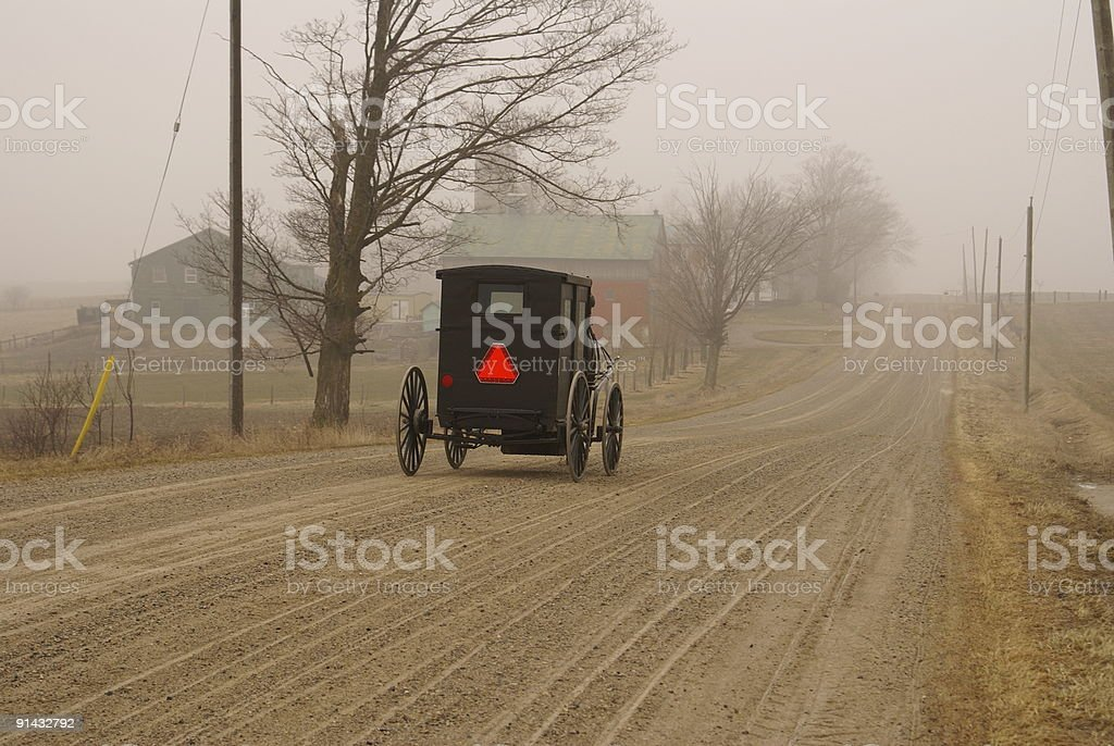 Mennonite Horse and Buggy stock photo
