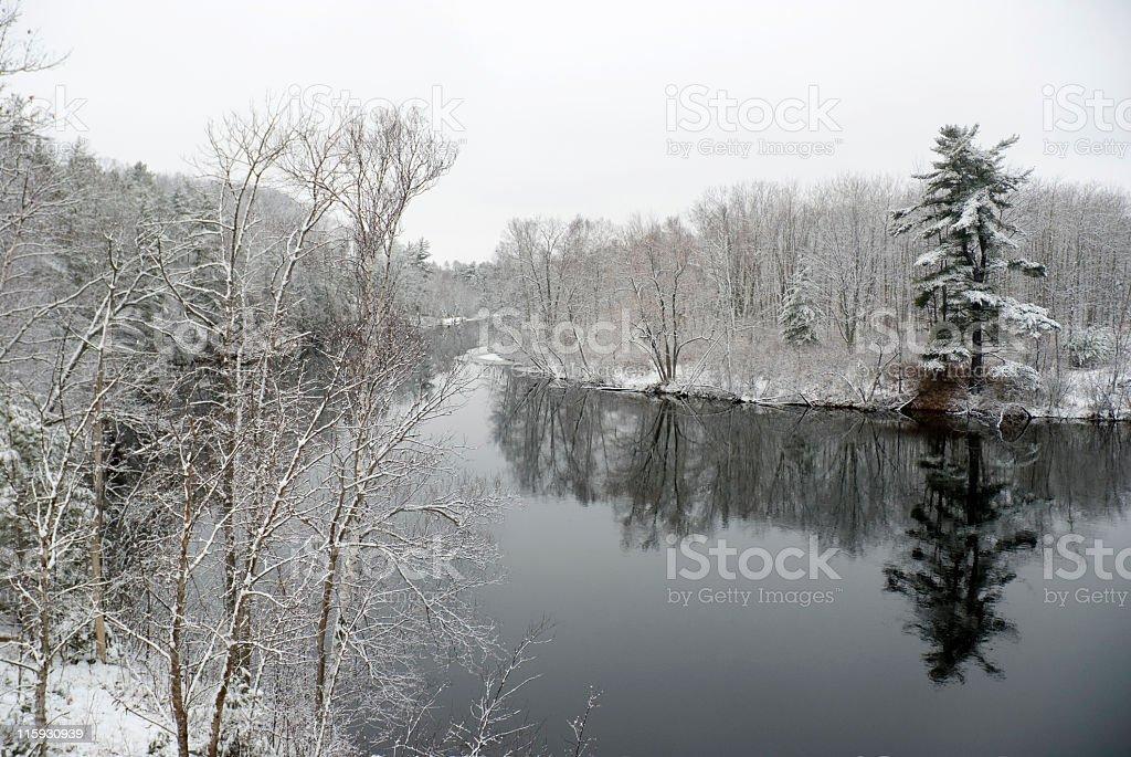 Menominee River royalty-free stock photo