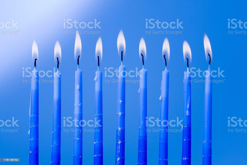 Menorah candles royalty-free stock photo