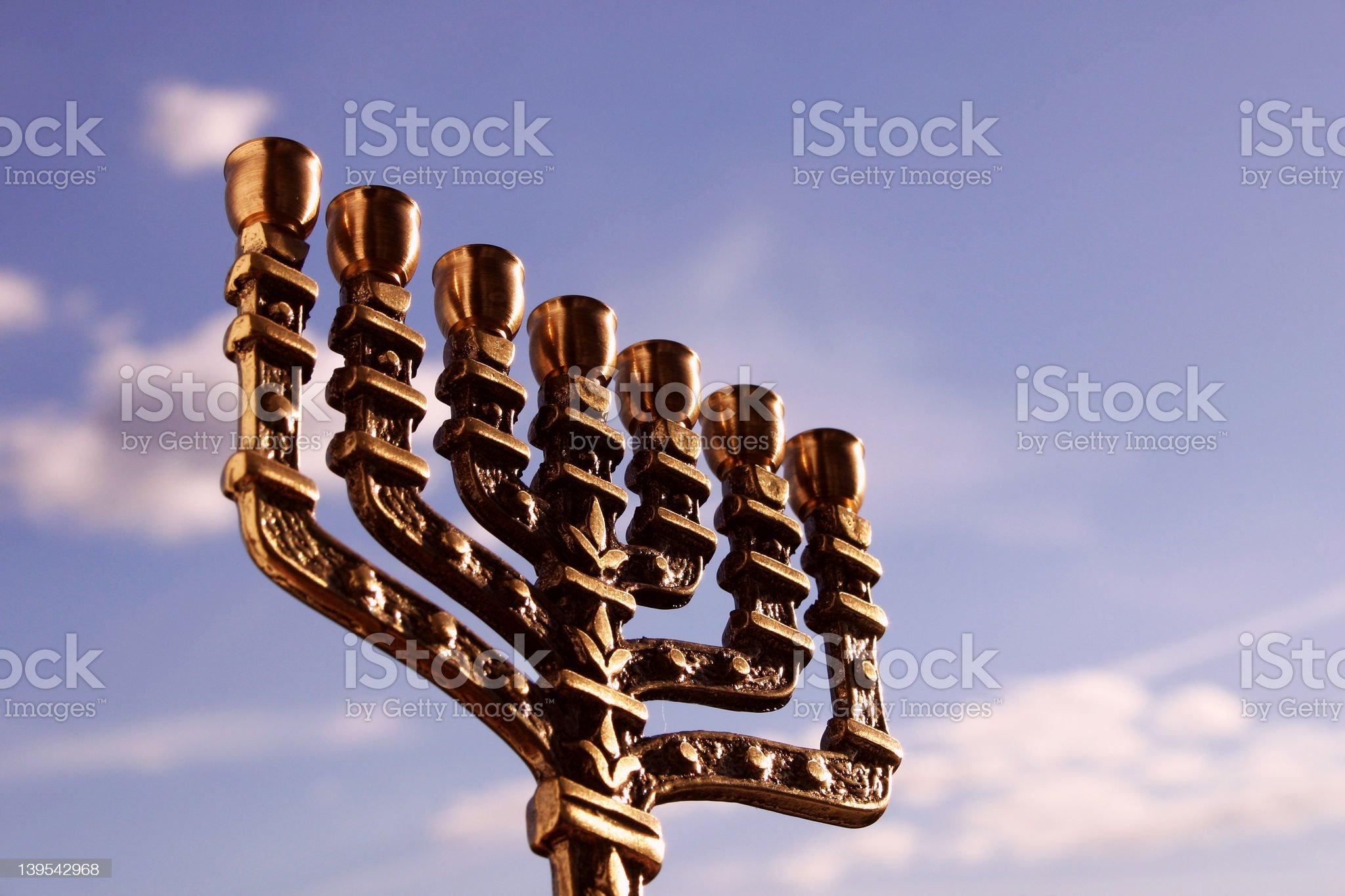 Menorah close-up royalty-free stock photo