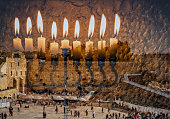 Menorah is Jewish attribute for Hanukkah holiday