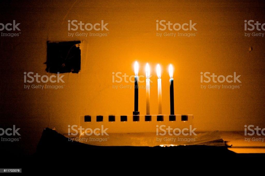 menorah stock photo