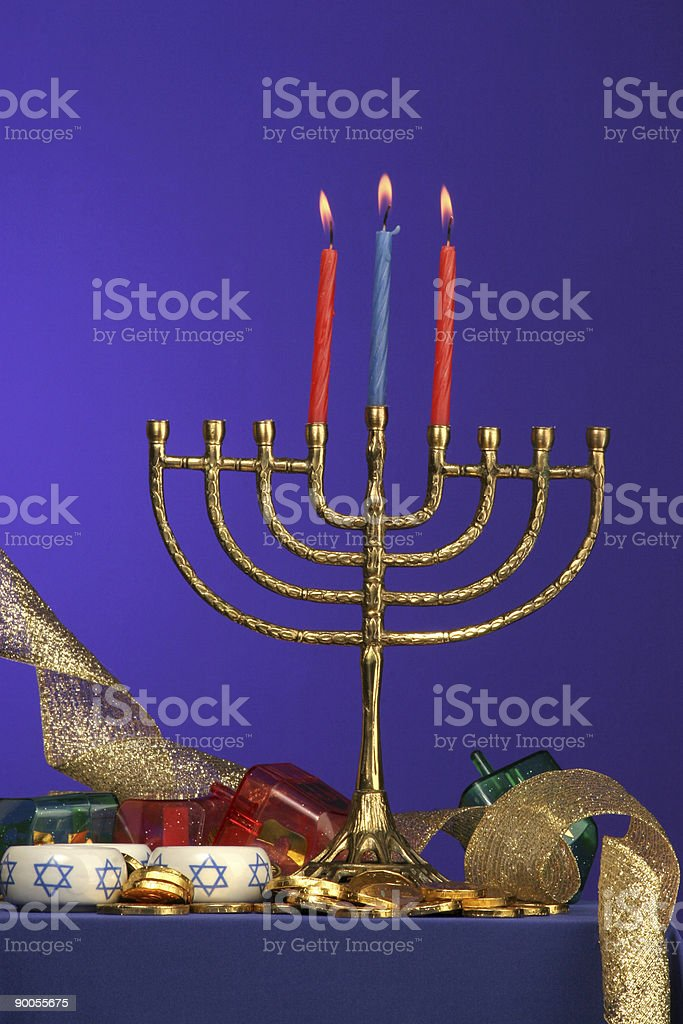 menorah series 3 royalty-free stock photo