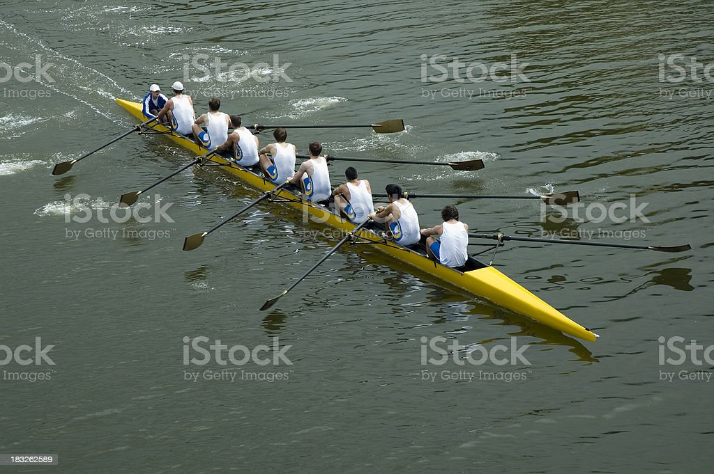 Mens 8 Man Rowing Team - Teamwork stock photo