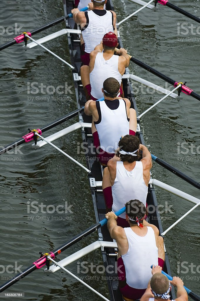 Men's 8-Man Rowing royalty-free stock photo