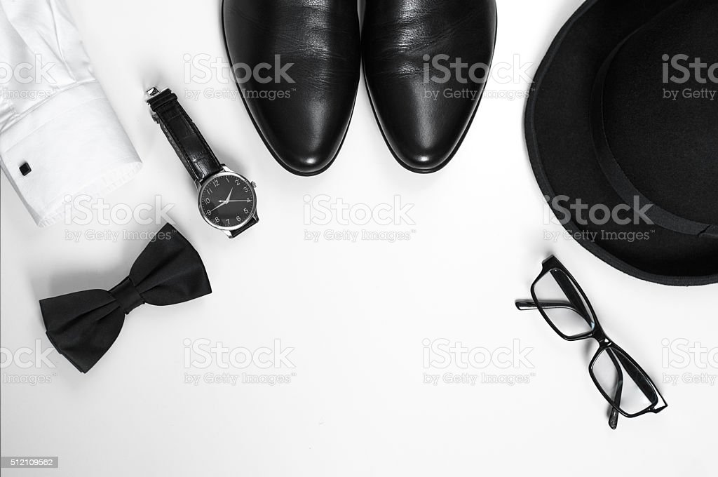 Mens accessories stock photo