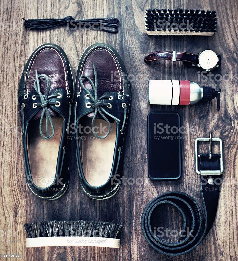 Men's accessories stock photo