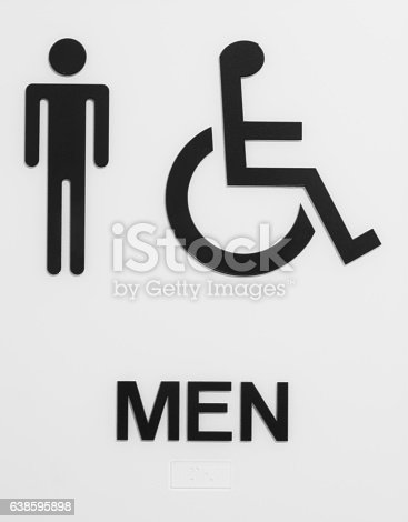 Bathroom Sign Handicap mens bathroom sign handicap accessible stock photo 638595898 | istock