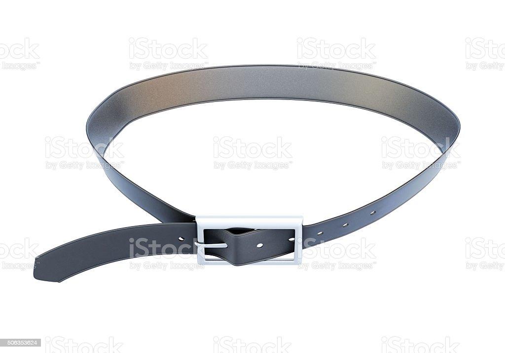 Men's belt isolated on white background stock photo