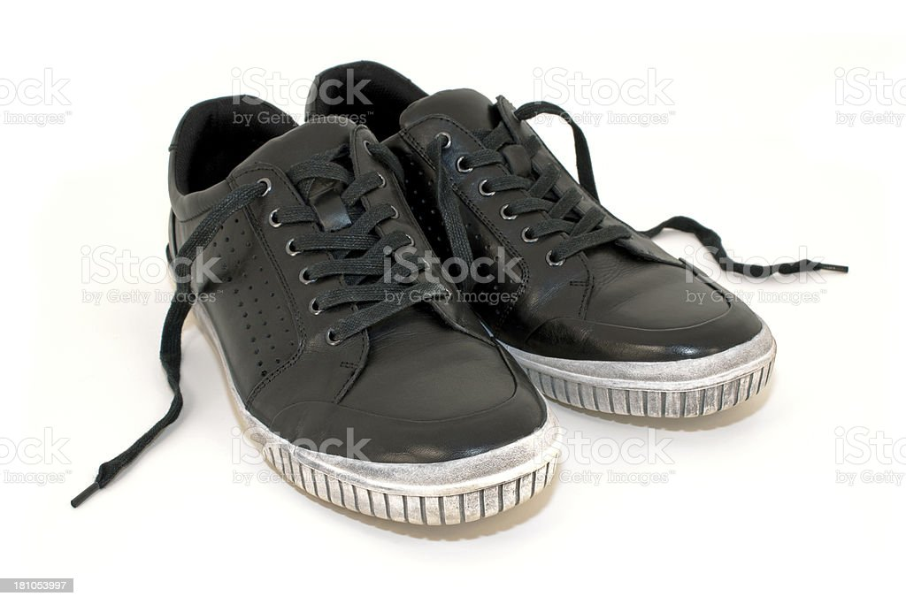 Men's black casual sneakers royalty-free stock photo