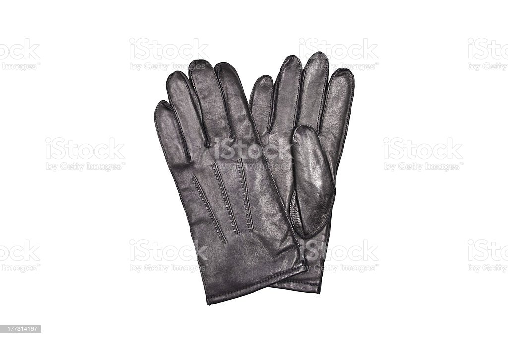 men's black gloves royalty-free stock photo