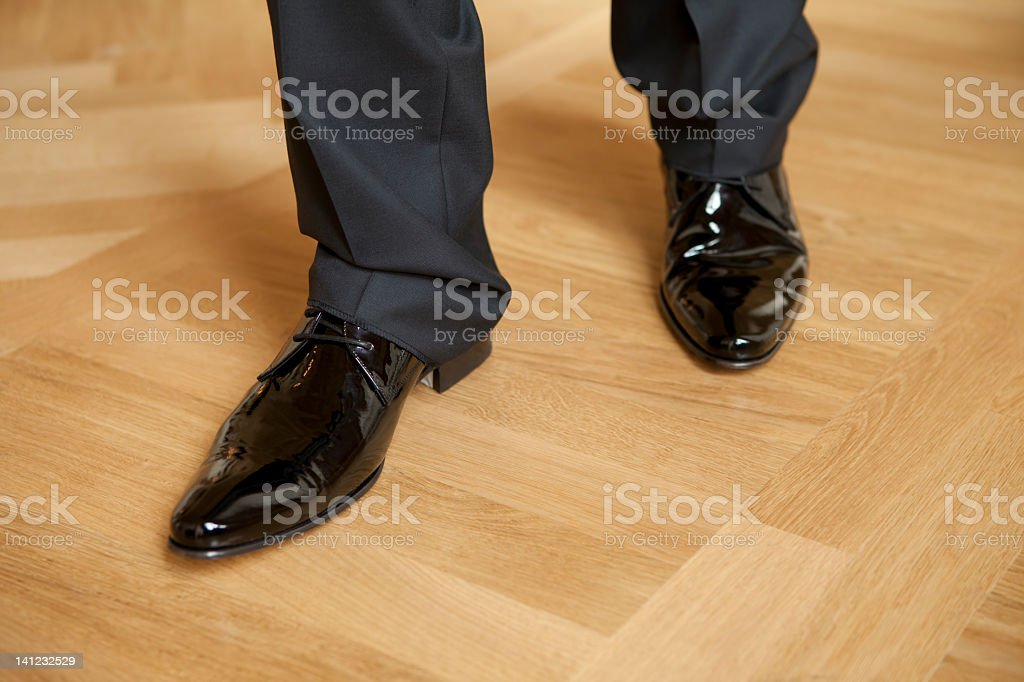 men's black shoes royalty-free stock photo
