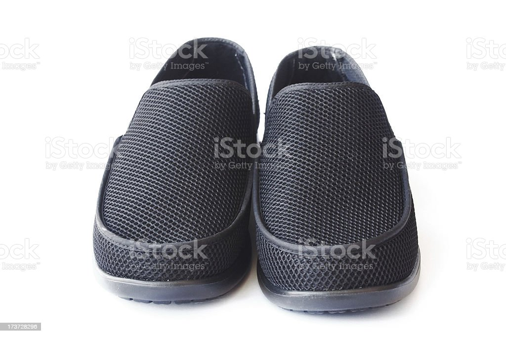 Men's black shoes royalty-free stock photo