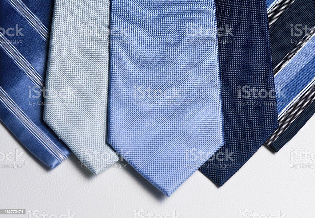 Mens Blue ties landscape layout stock photo