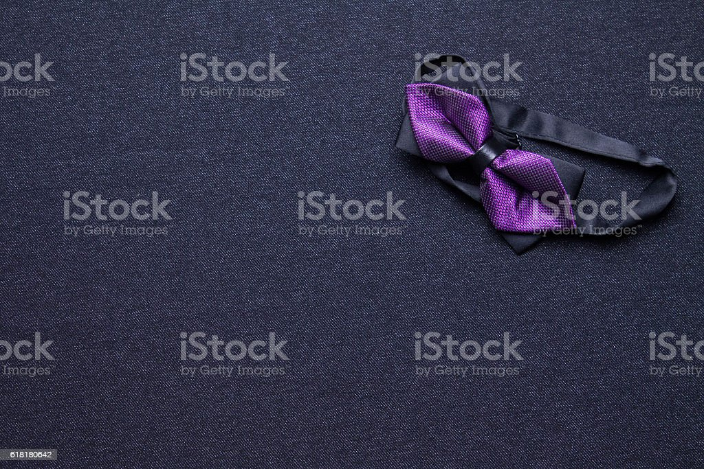 Men's bow tie on a black background stock photo