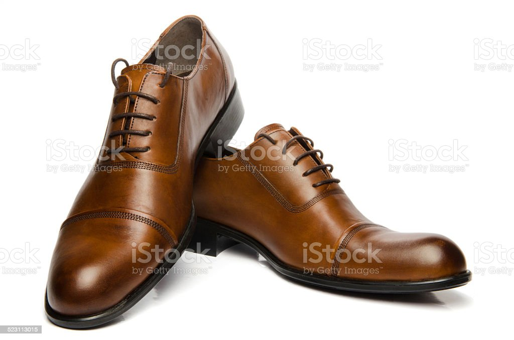 Men's Brown Shoes stock photo