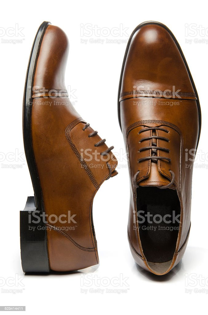Men's Brown Shoes stock photo