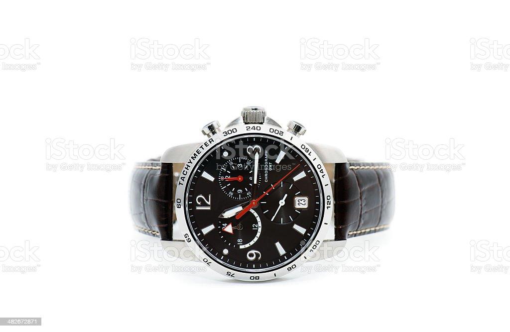 Men's chronograph wristwatch royalty-free stock photo